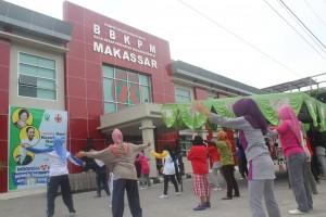 Lomba Senam Peringatan HKN ke-49 BBKPM Makassar